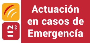 Actuación en casos de emergencía